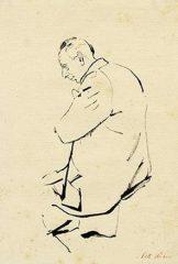 Viktor Ulmann, sketch by Peter Kien. [Courtesy of Jewish Museum, Prague.]